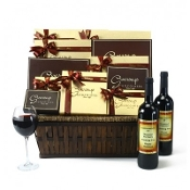 Executive VIP Luxury Wine & Gourmet Chocolate Basket