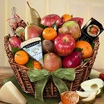 California Artisanal Cheese and Fruit Basket