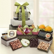 Gracious Giver Fruit & Gourmet Box Tower